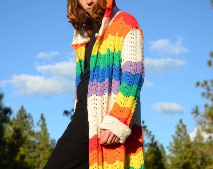 Knit Sweater Rainbow Robe