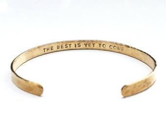 14k Gold Filled bangle - Hidden message bracelet, CUSTOM gold bangle bracelet, text on the inside, secret message, personalized bracelet