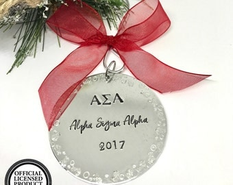 Alpha Sigma Alpha Gifts - ASA Ornament - Sorority Christmas Ornaments - The Charmed WIfe - Gifts for Sorority Girls - Christmas Gift Ideas