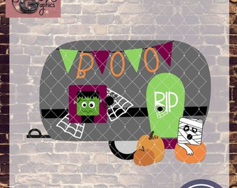 Halloween Camper with SVG, DXF, PNG, Eps Commercial and Personal Use