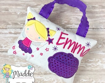 Girls Tooth Fairy Pillow, Tooth Fairy Pillow, Princess Tooth Fairy Pillow, Keepsake, Tooth Fairy Pillow Girl, Birthday Gift, Personalized