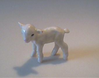 Vintage miniature Hagen Renaker white lamb