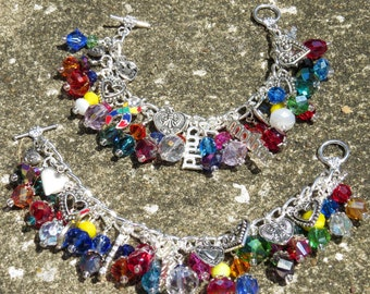 AUTISM MOTHER'S LOVE  Rainbow Autism Mother's Day Charm Bracelet