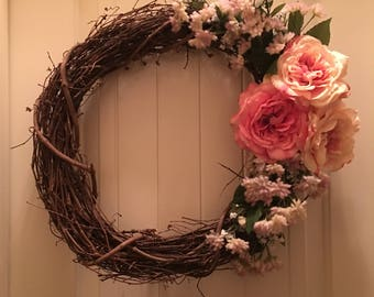 Beautiful Branch Wreath - Pink Toned Floral