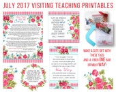 July  2017 Visiting Teaching Message Printable Instant Download - LDS - Mormon - VT Message
