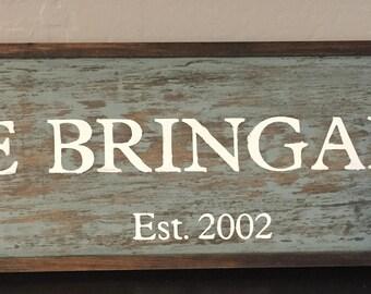 Family Name Established Wood Sign