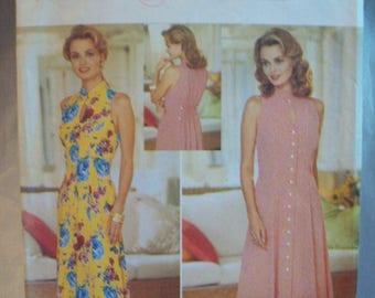 Vintage 1990s Butterick Pattern 4433 DW3 for David Warren Semi-fitted Dress Uncut Sizes 6-8-10