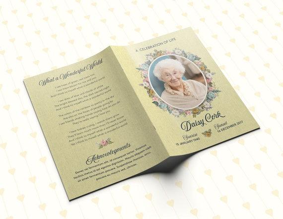 Funeral program floral funeral program personalized memorial like this item stopboris Choice Image