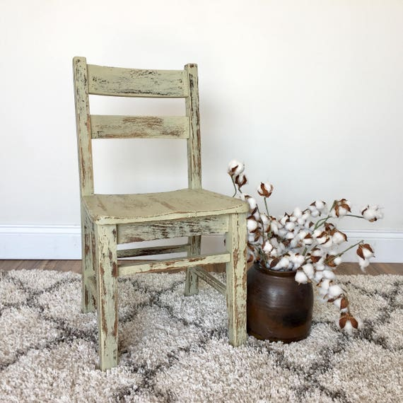 Desk Chair for Kids - Children's Furniture - Toddler Desk Chair - Vintage School Chair - Distressed Chair - Farmhouse Furniture