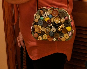 Vintage Button Purse
