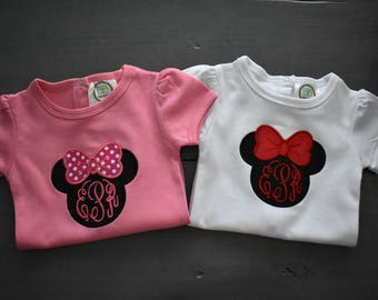 Mouse Head Applique Body Suit