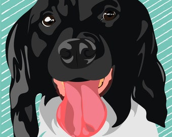 Personalized Vector Pet Portrait (Dog, cat, etc)