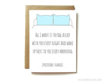 sexy card, naughty card, card for boyfriend or girlfriend, card for husband or wife / preferably naked