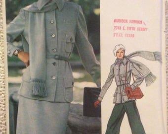 Vogue Americana Pattern 1128 Bill Blass Size 12 Misses Jacket Pants Skirt Scarf