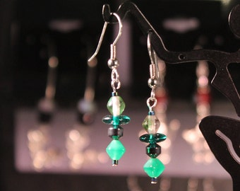Little Green Hematite Earrings