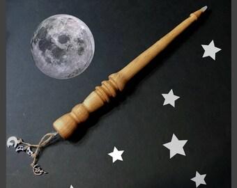 Moon Wand, Glow Wand, Wood Wand, Wizard Wand, Magic Wand, Handmade Wand, Pagan Wand, Witch Wand, Wands Wood, Wiccan Wand, Kids Wand