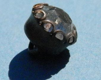 Vintage Small  Rhinestone Button