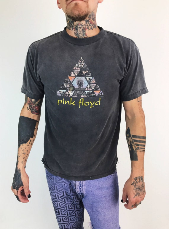 Vintage Rare PINK FLOYD Band Tee Small - Retro Thin Distressed Band T-shirt - Holey Grunge English Rock Band Pink Floyd Gray Shirt Authentic