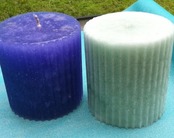 3 x 3.5 Fluted Soy Pillar Candle