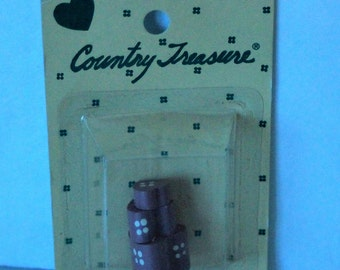 Country Treasure Minature Wooden Hat Boxes Mauve 2210 Made In Taiwan Dollhouse, Shadowbox