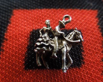 Sterling Spanish Charm Flamenco Dancers On Horse Charm Couple  On Horse Silver Charm for Bracelet from Charmhuntress 04994