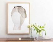 White Abstract Minimalist Art, Large Contemporary Wall Art Poster Size Print, New Home Gift, Fine Art Modern Print