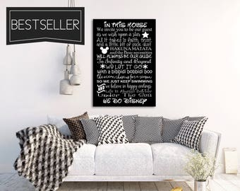 WE DO DISNEY House Rules Sign Sale Art Print Canvas