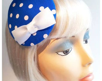 Bang Blue hat with white polka!