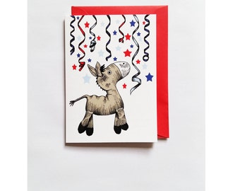 Jumping for Joy blank greetings card