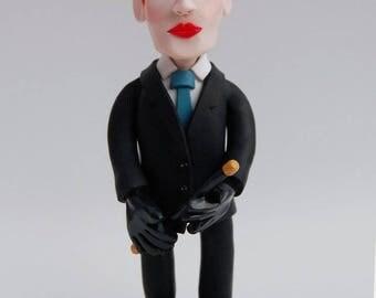 Annie Lennox Polymer Portrait | Eurythmics Sweets Dreams | OOAK Clay Figure