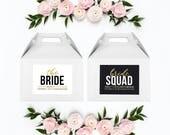 Bachelorette Survival Kit Box, Bride Squad Hangover Survival Kit Box, Bachelorette Party Decorations, Bridesmaid Proposal Box & Labels
