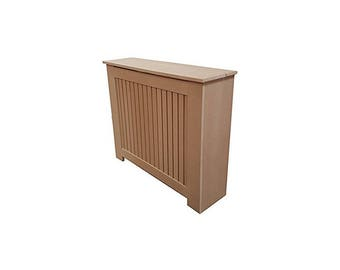 MDF (extra deep) Med, Radiator Cover slatted hinged lid