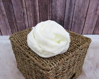 Newborn Cheesecloth Wrap, Ivory Baby Wrap, Maternity Cheesecloth Wrap