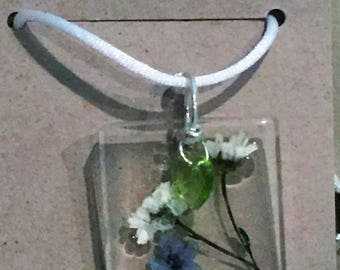 Blue Quartzite and  Forget Me Not