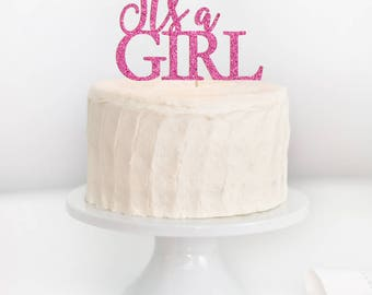It's a Girl Cake Topper, Baby Shower Cake Topper, Baby Girl Cake Topper, Gender Reveal Cake Topper, Gender Announcement