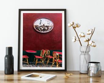 Photographie Fine Art de Paris - Toile Photo de Paris - Terrasse Parisienne