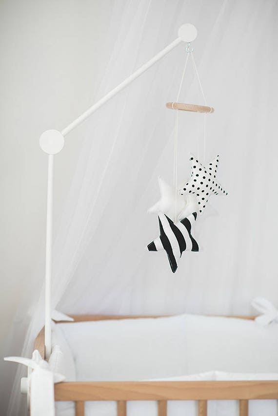 crib mobile arm white wooden mobile hanger baby crib. Black Bedroom Furniture Sets. Home Design Ideas