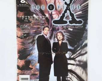 X-Files Comic, Signed by Miran Kim, Firebird, Conclusion, Topps Comic, Number 6, Agent Mulder, Scully, Mint Condition, Truth is Out There