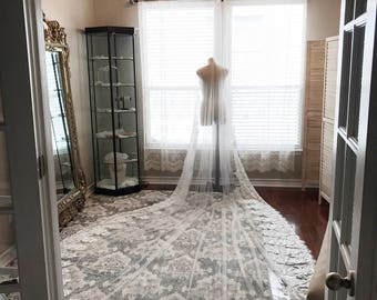Royal length custom veil