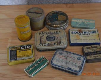 Boites en métal  vintage