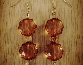 Copper tone dangled earrings