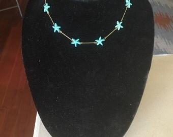 Starfish Turquoise Necklace by Dobka
