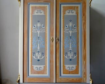 Antique handpainted wardrobe
