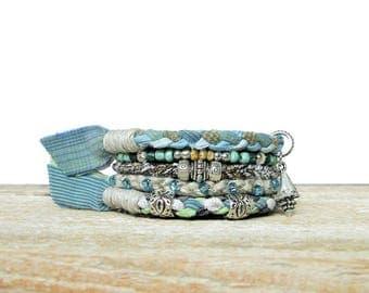 Boho Beach Bracelet Seashell Bangles Ocean Jewelry Beachy Bracelet Stack Hippie Chic Summer Jewelry