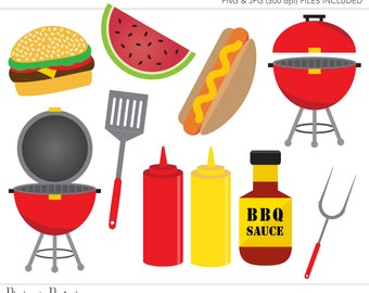 Commercial Use Clipart, Commercial Use Clip Art, BBQ Clipart, Barbecue Clipart, Grill Clipart, Commercial License, Commercial Clipart