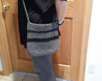Hand felted shoulder bag/purse