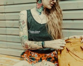 Divine Female - Charcoal Vest  - Coven of Mothers Collection