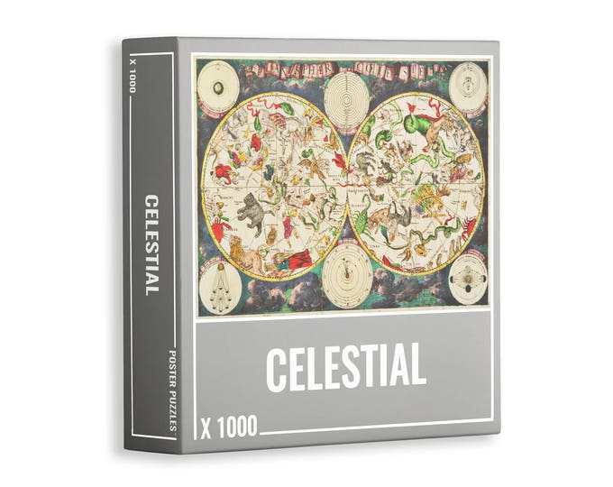Celestial Star Map Puzzle – Premium, 1000-piece Jigsaw Puzzle for Adults