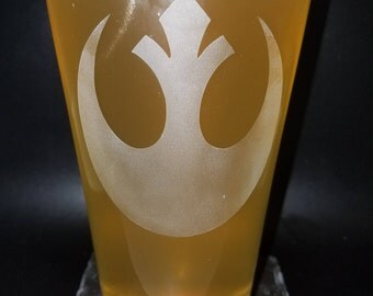 Star Wars Rebel Alliance inspired Etched Glass