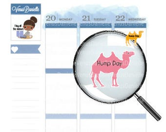 Hump Day Stickers, Wednesday Stickers, Long Week Stickers, Camel Stickers